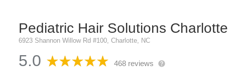 Reviews of Pediatric Hair Solutions in Charlotte, NC